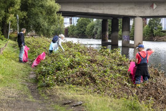 Ruhrcleanup nach dem Hochwasser