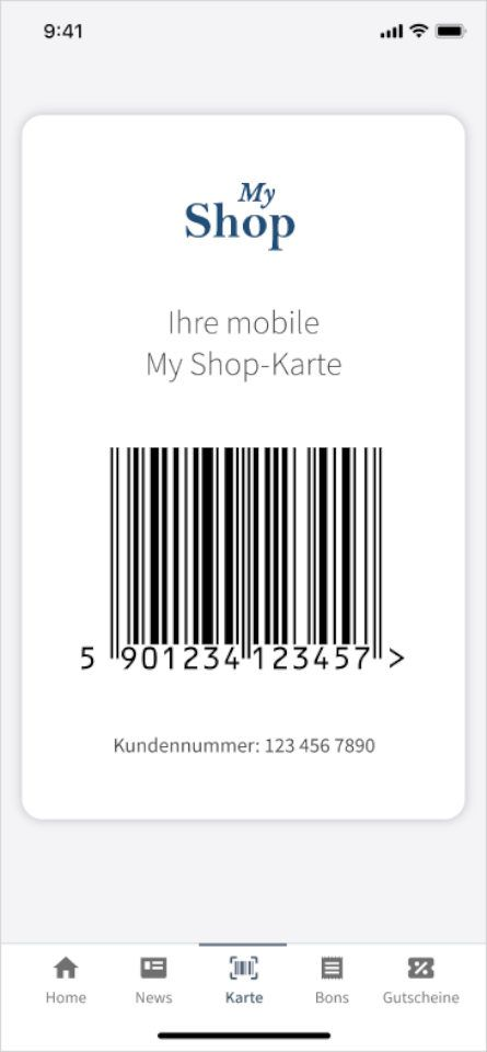 Digitale Kundenkarte - Customer Wallet