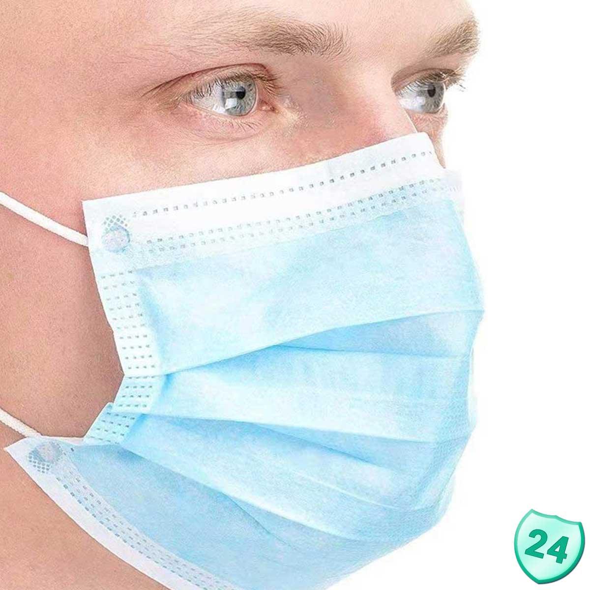 5000 zertifizierter Mundschutz 3-lagig, MNS Atemschutz Einwegmaske