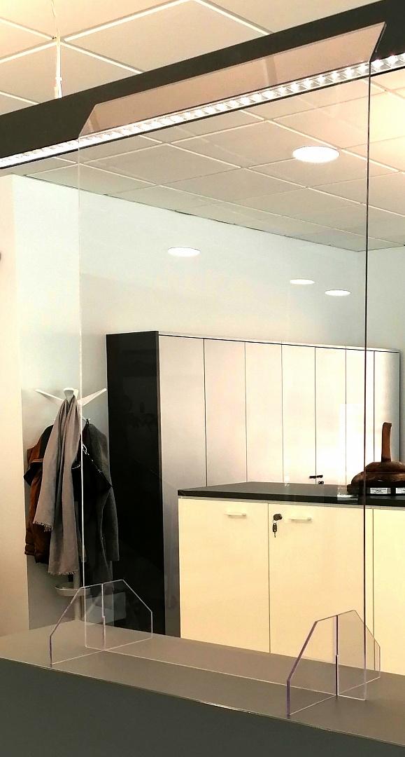 Spuckschutz Wand Aufsteller Niesschutz Protect Light