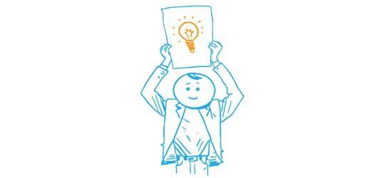 """Zeichnung eines """"Schlauen Kopfs"""", der im Lernforum online oder im Zollernalbkreis Nachhilfe geben möchte"""