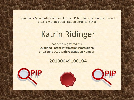 QPIP Zertifikat Dr. Katrin Ridinger