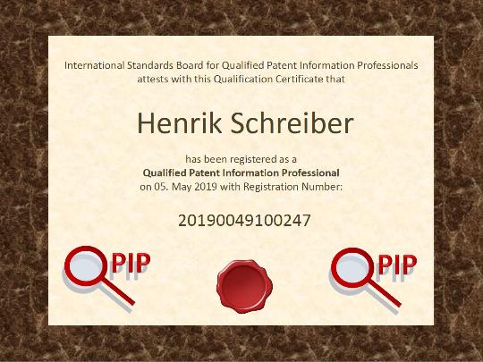 QPIP Zertifikat Henrik Schreiber