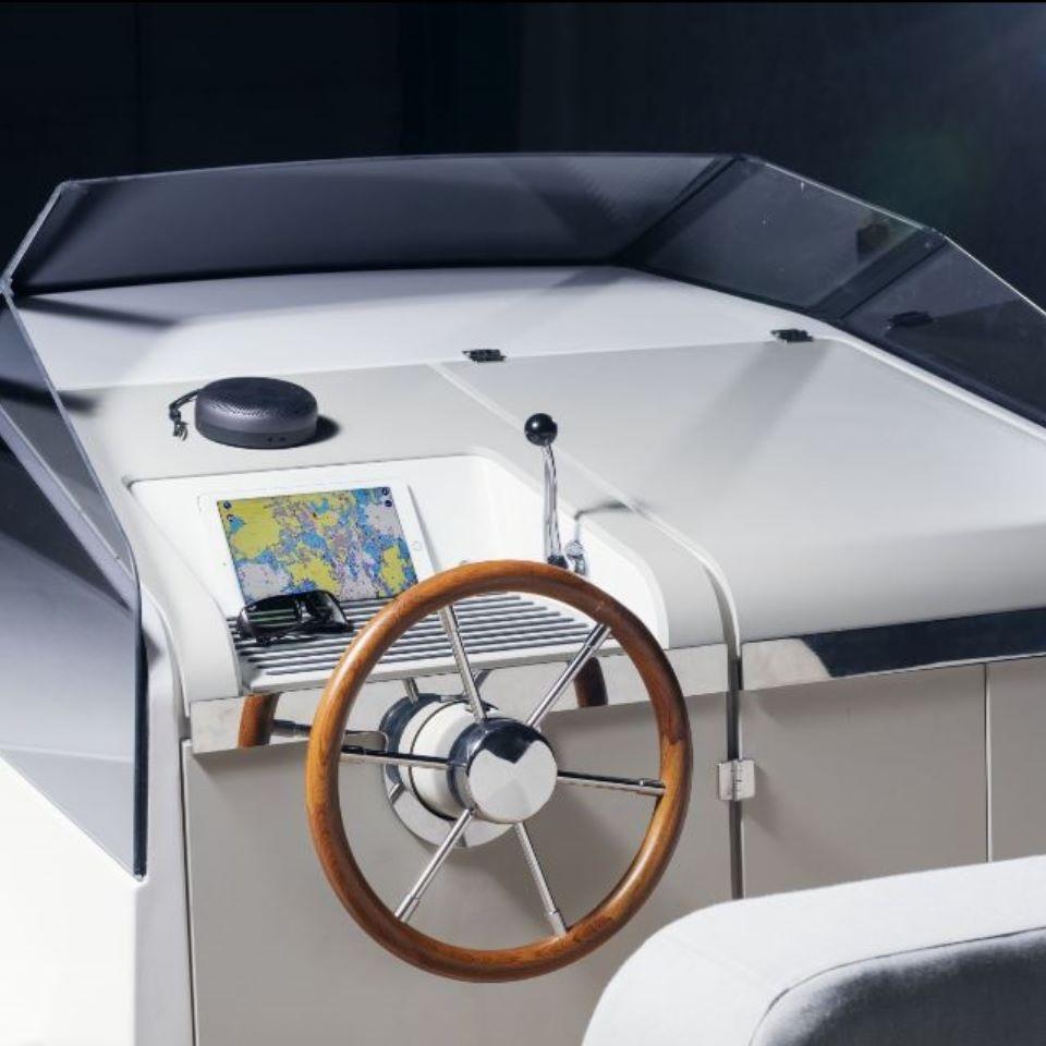 cockpit with iPad controls