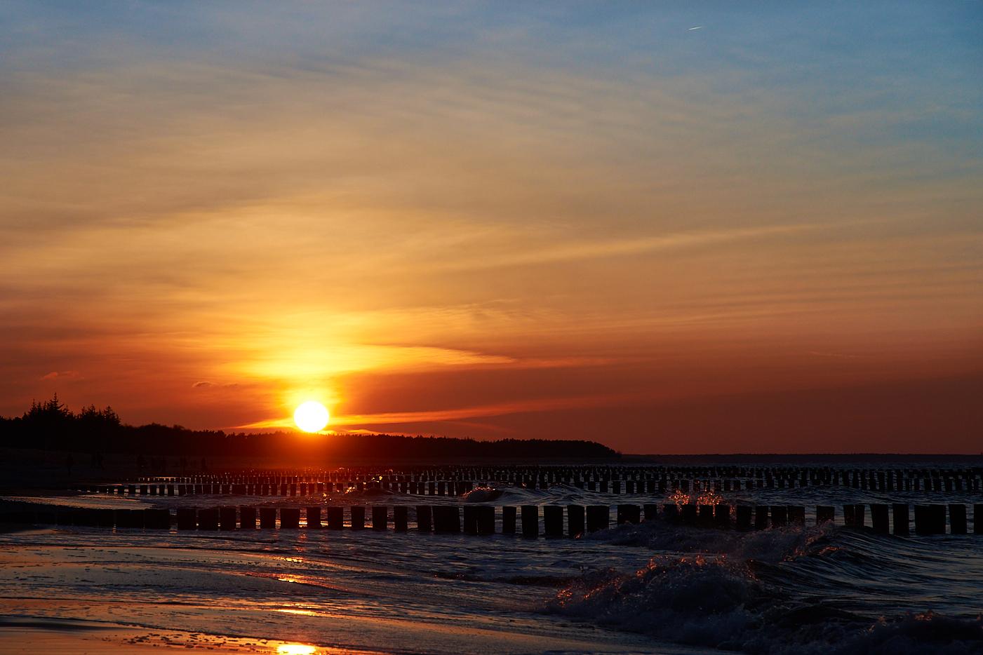 Sonnenuntergang am Strand - Zingst - ankofoto