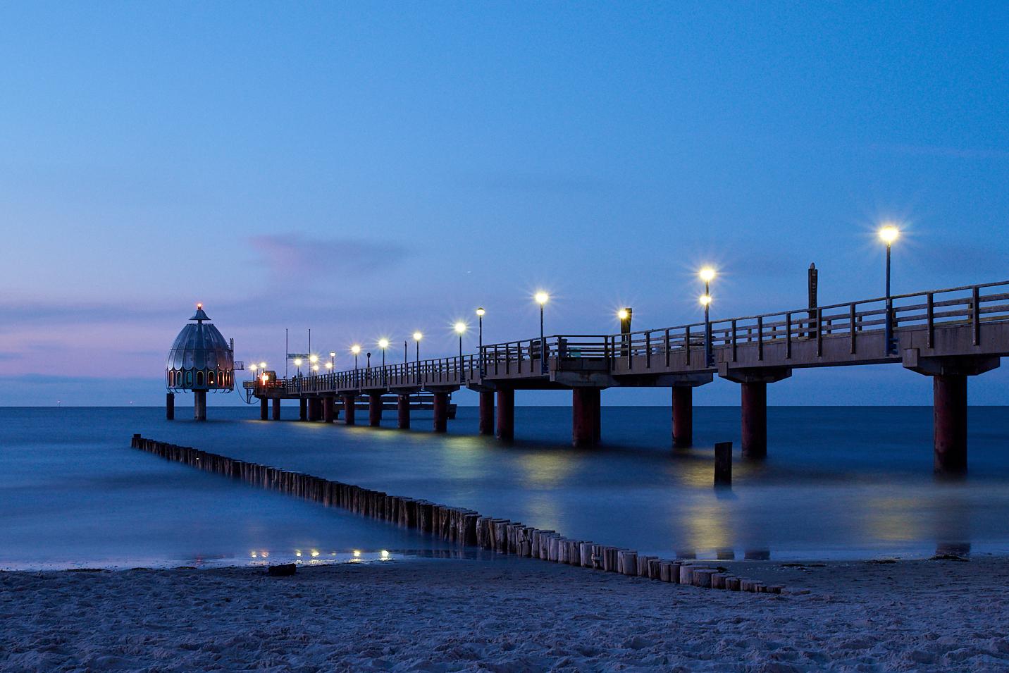 Seebrücke an Abend - Zingst - ankofoto