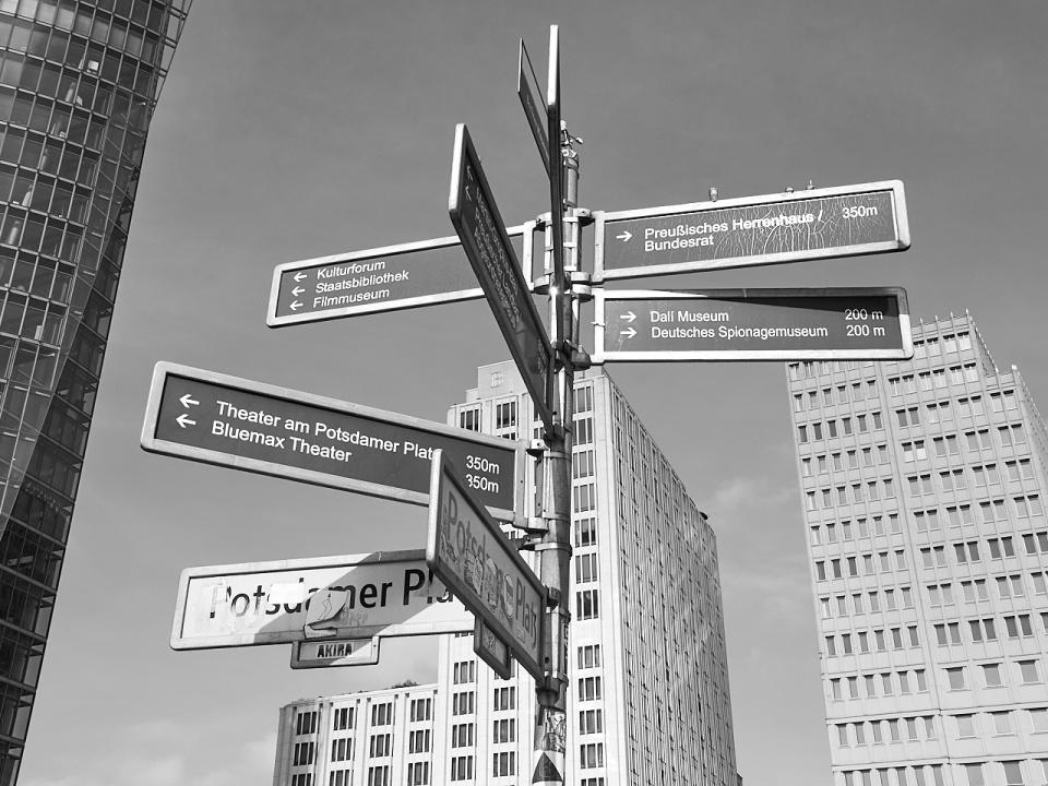 Schilderbaum Potsdamer Platz - ankofoto